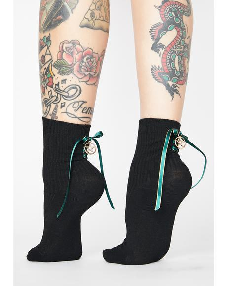 Deadly Sins Lace Up Ankle Socks