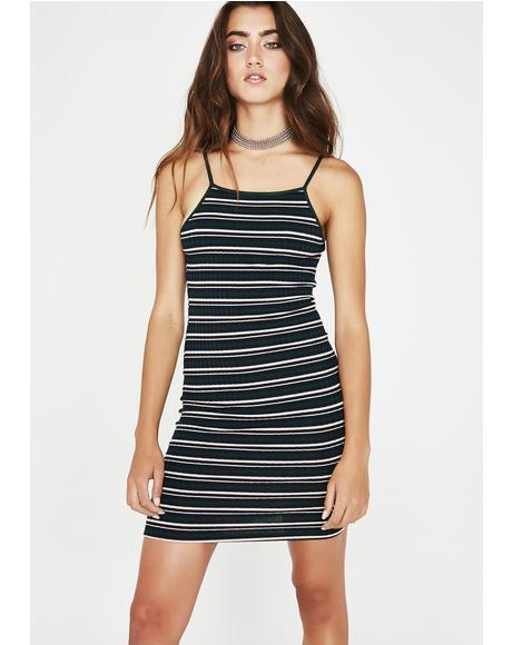 Dank Set It Off Stripe Dress
