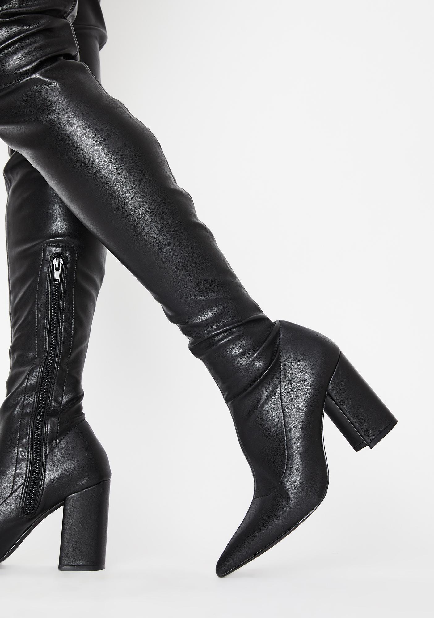 Fantasized Lie Thigh High Boots
