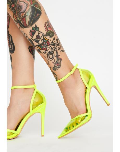 Crazy Neon Heels