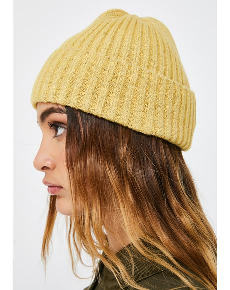 Honey Phone On Silent Ribbed Beanie