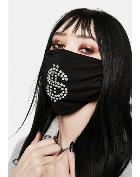 Dolla Sign Rhinestone Face Mask