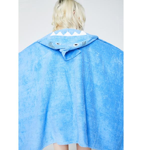 Yikes Twins Adult Shark Hooded Towel