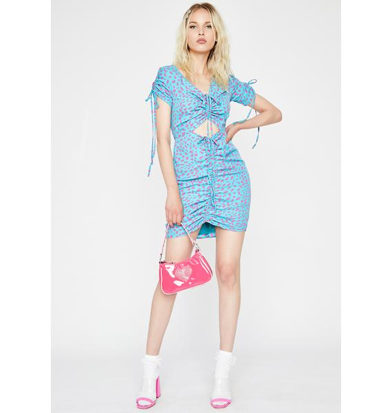 Berry Candy Heart Mini Dress