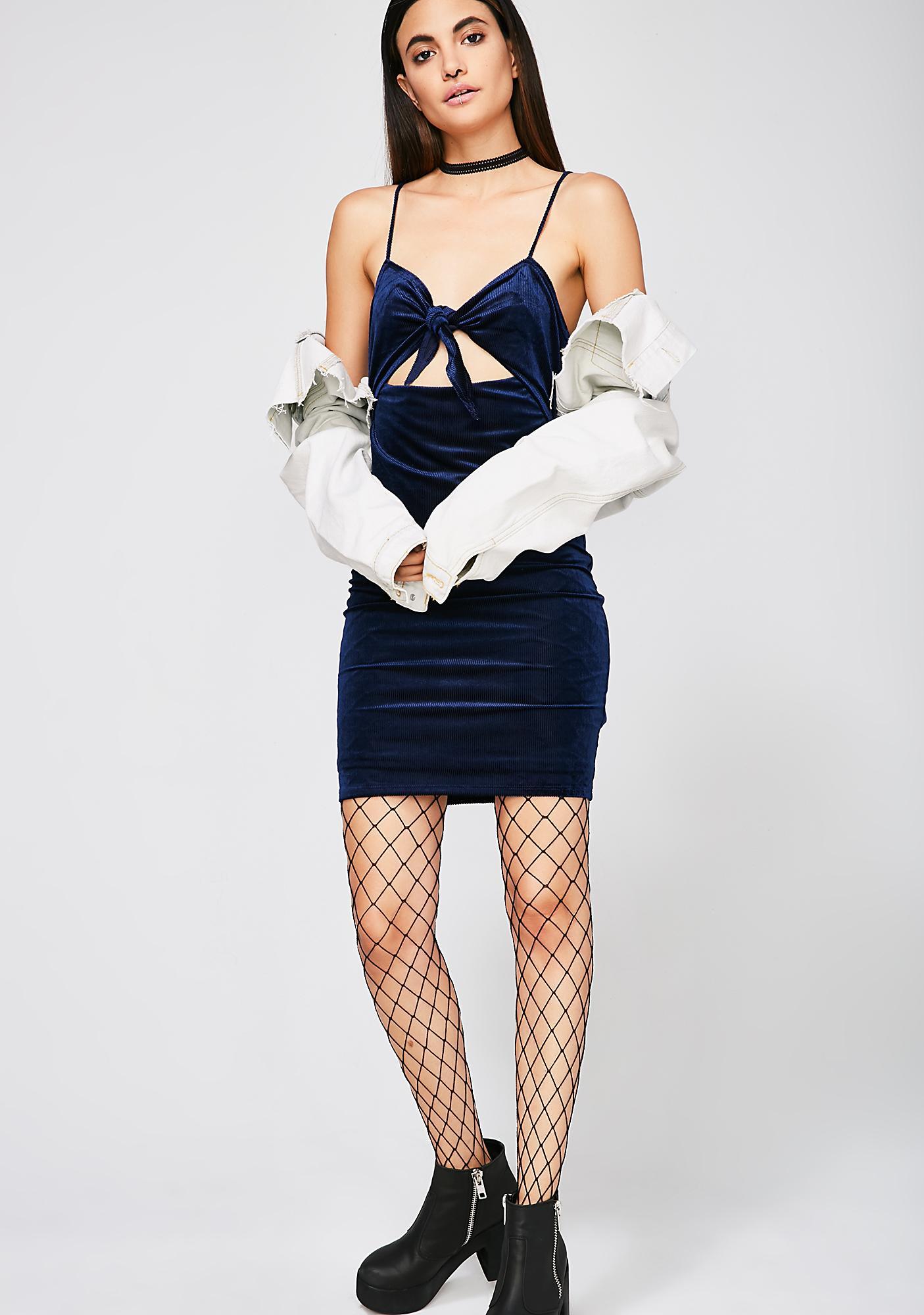 Breakin' Ties Velvet Dress