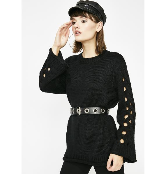 Midnight Twisted Dreams Oversize Sweater