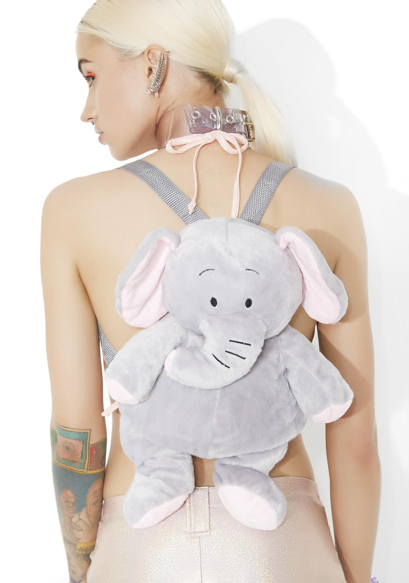 Pudgy Elephant Mini Backpack