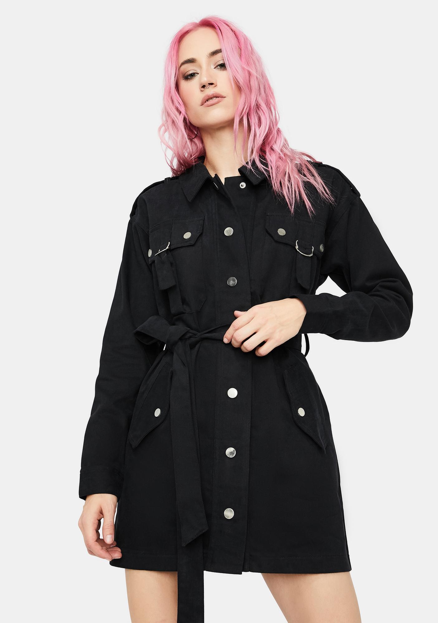 Baddie Revolution Cargo Dress