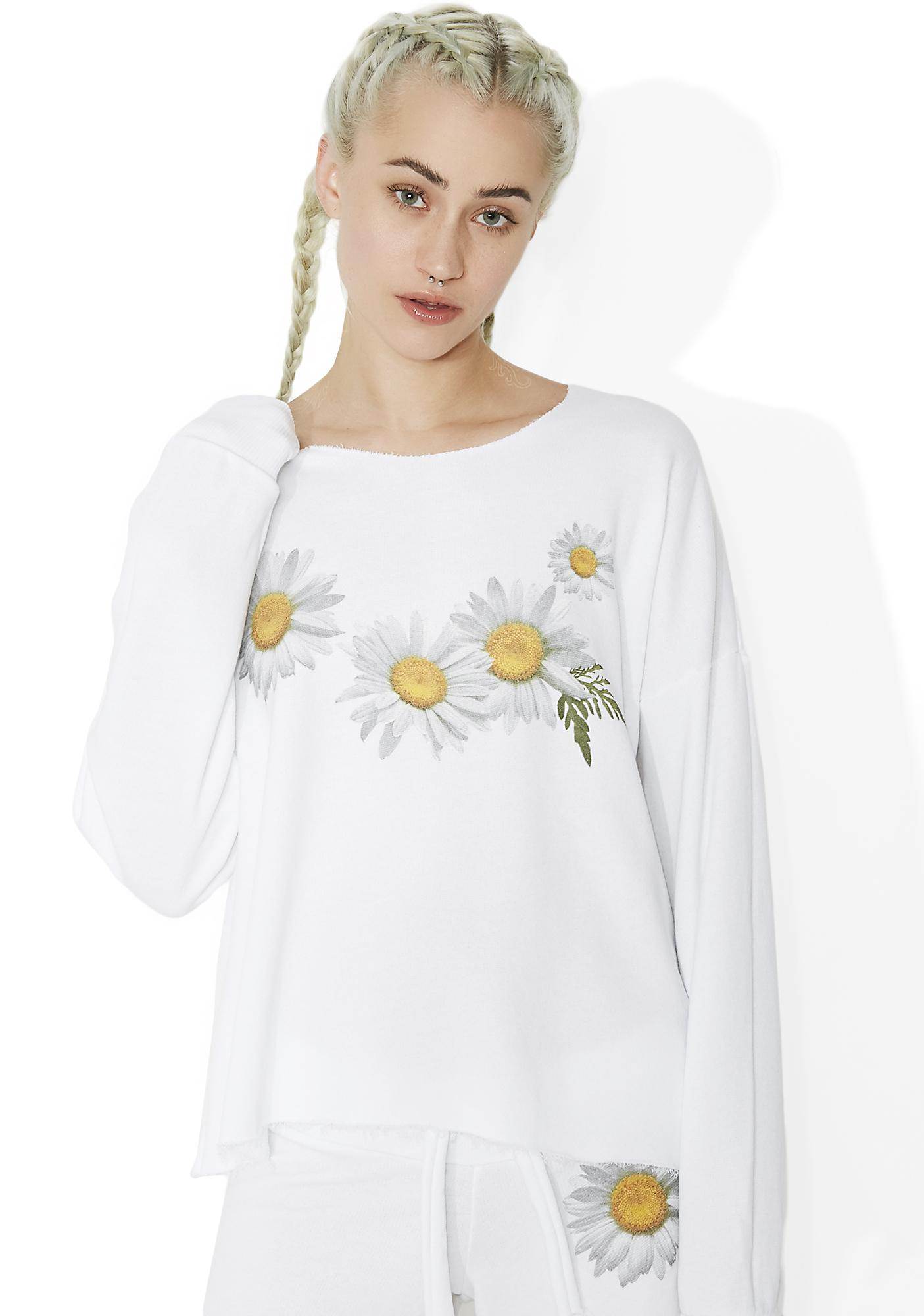 Wildfox Couture Fresh As A Daisy 5AM Sweatshirt