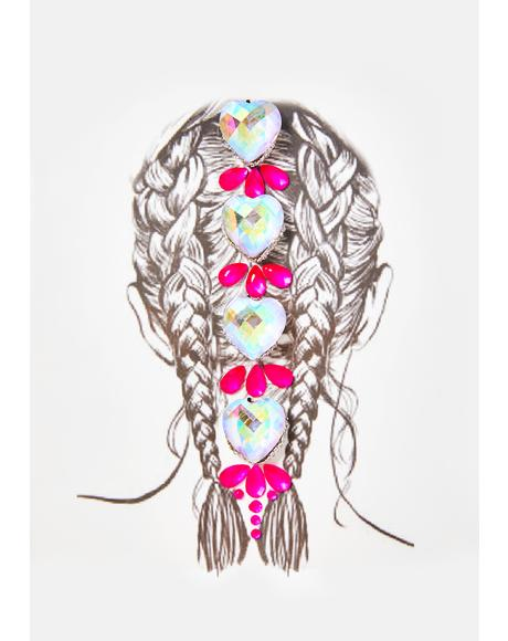 Light Up Neon UV Hair Jewels