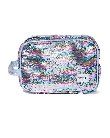 Rainbow Sequins Portland Cosmetic Bag