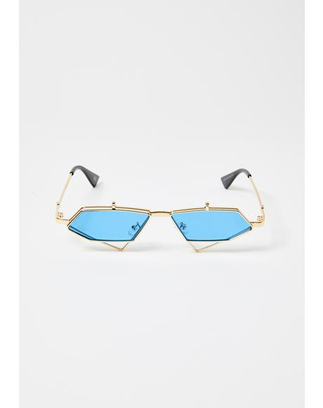 Diamond Daze Flip-Up Sunglasses