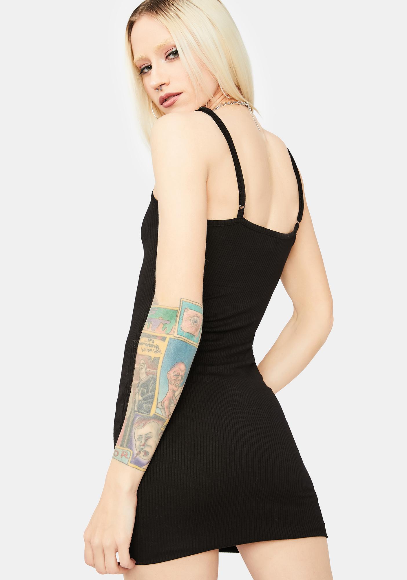 Just Makes Sense Ribbed Mini Dress
