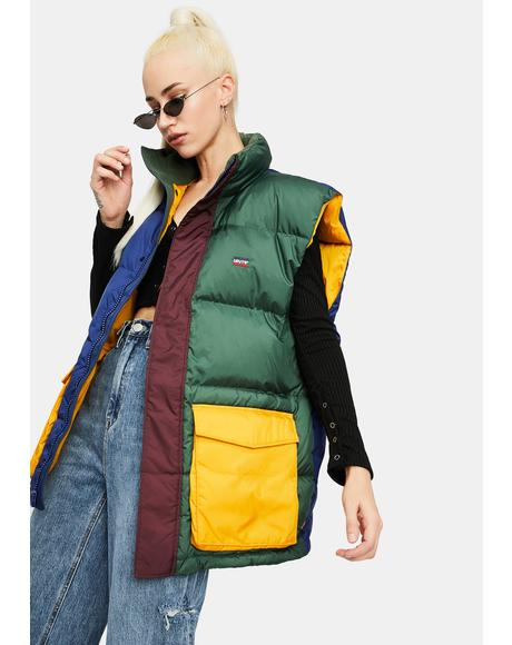 Stay Loose Fillmore Color Block Puffer Vest