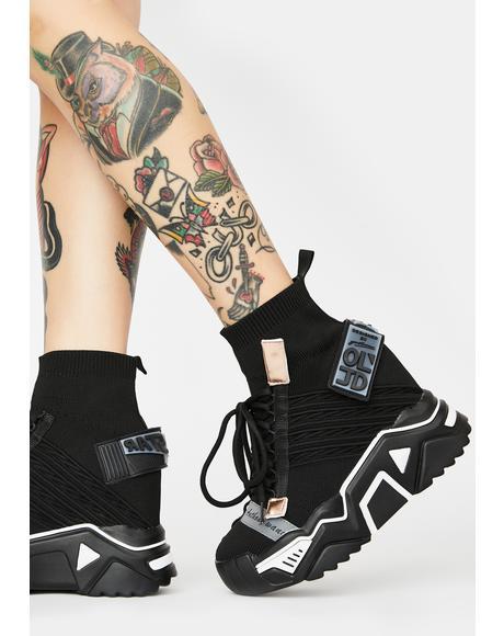 Black Clout Chasin' Platform Sneakers