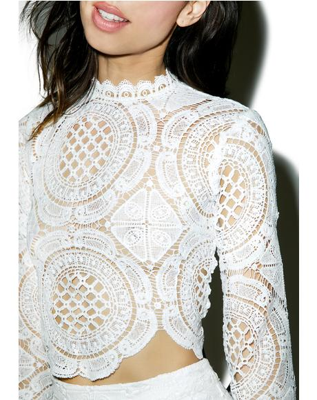Victoriana Lace Crop Top