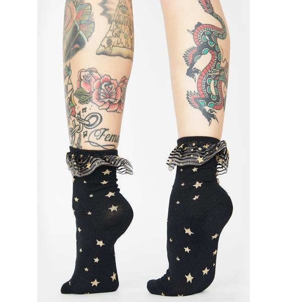 Starry Eyed Sweetheart Ankle Socks