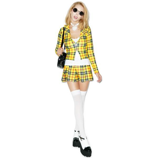 J Valentine Clue-Less Student Costume