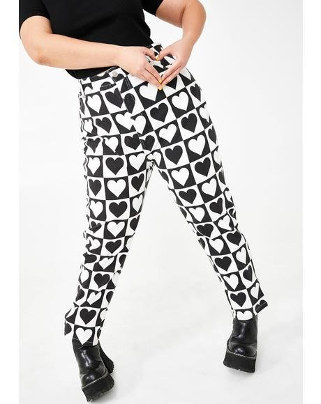 So Heart Deco Printed Jeans