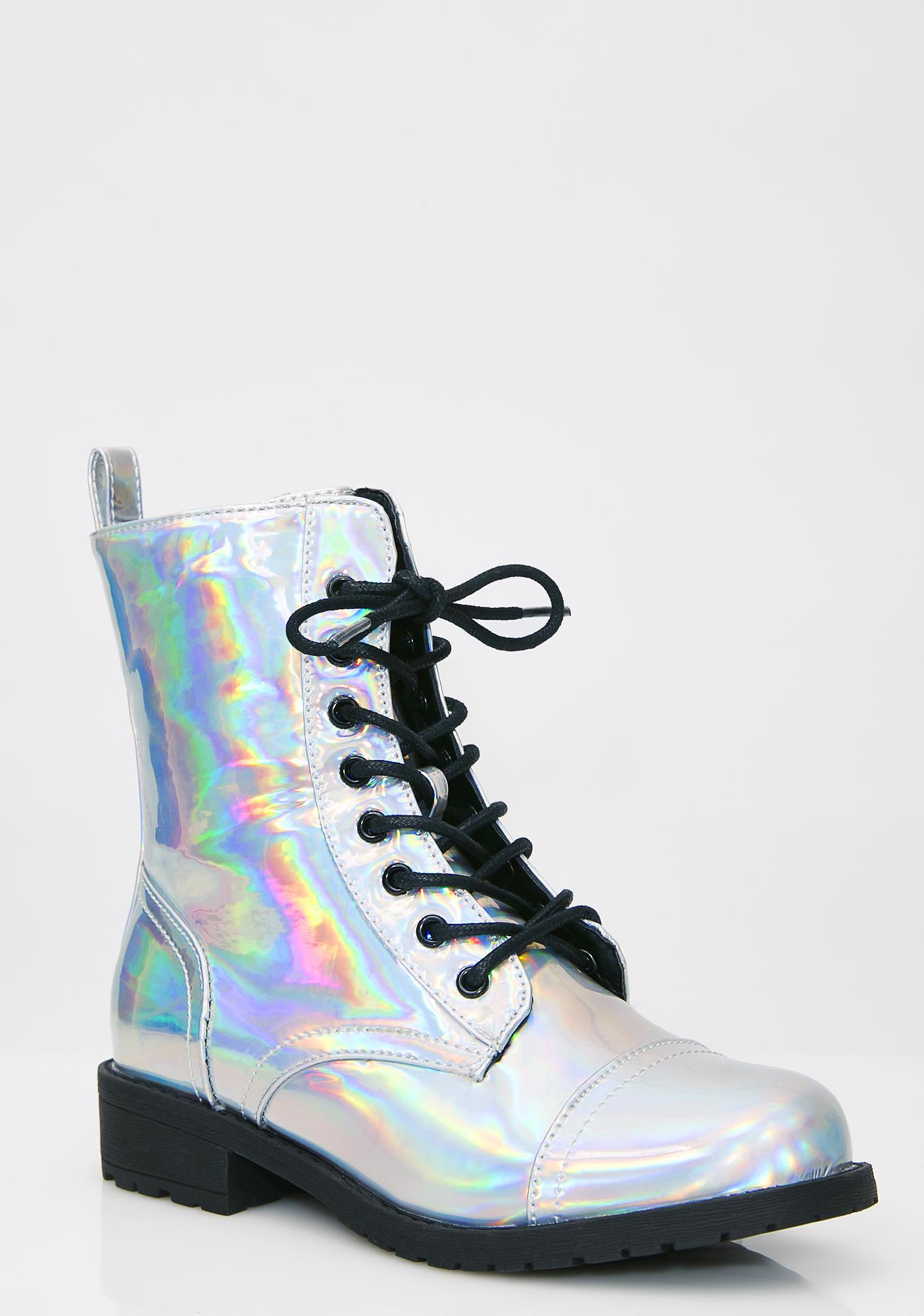 Holo Stomp Combat Boots