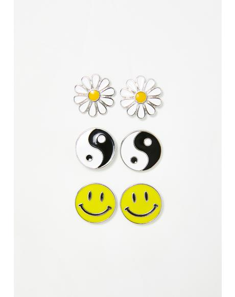 Sunshine Tripster Earring Set