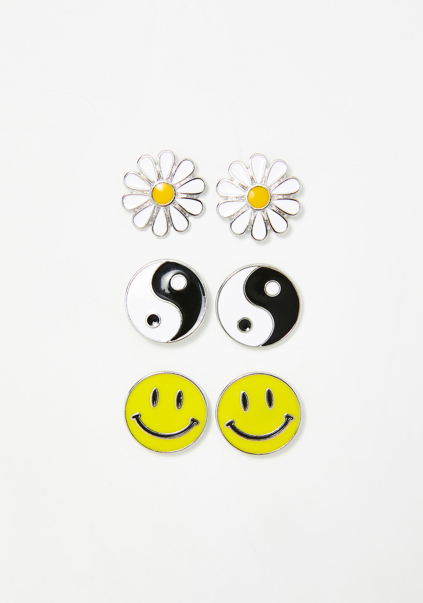 dELiA*s by Dolls Kill Sunshine Tripster Earring Set