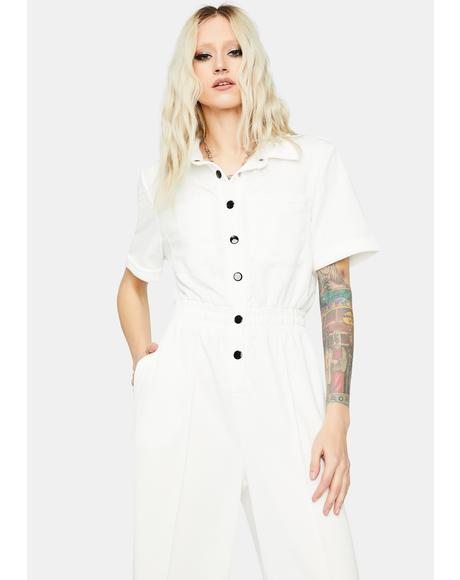 Brainwave Beats Button Up Jumpsuit