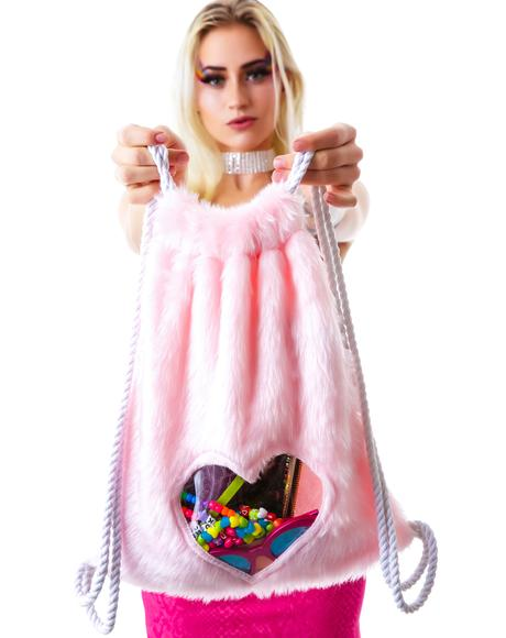 PLUR Love Drawstring Backpack