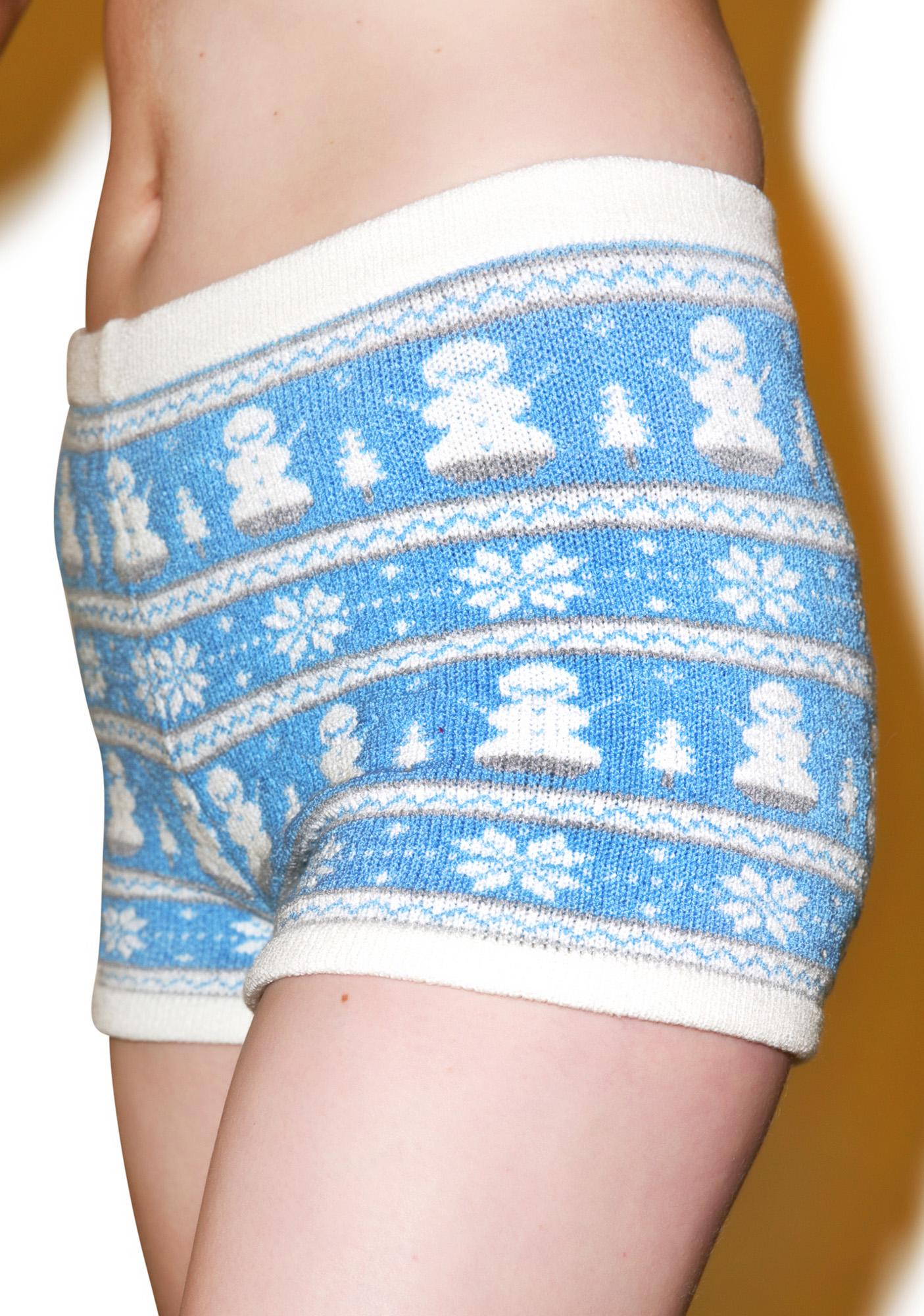 Knitty Kitty Do Yew Want 2 Build A Snowman Boyshorts