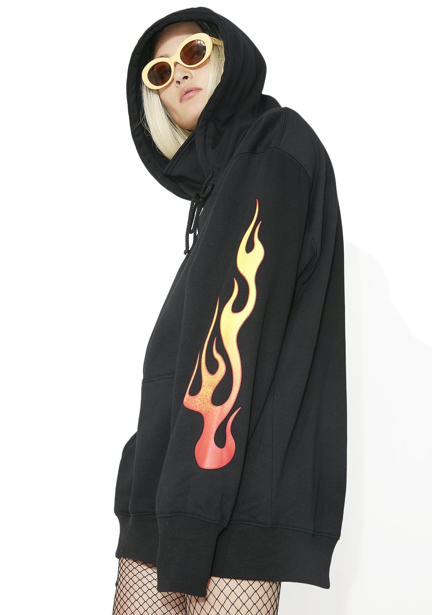 Current Mood Flamin' Masked Hoodie Dress