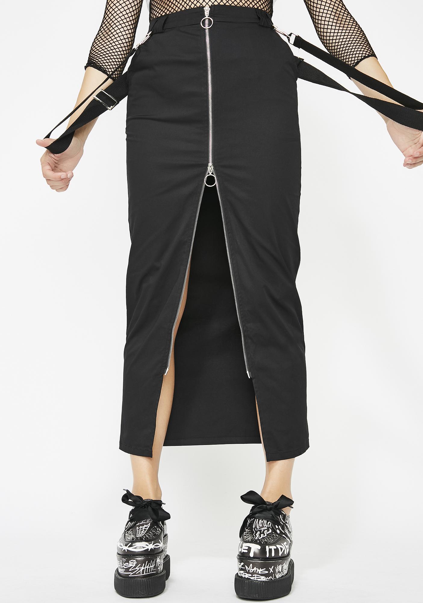 Dark Heart Suspender Skirt