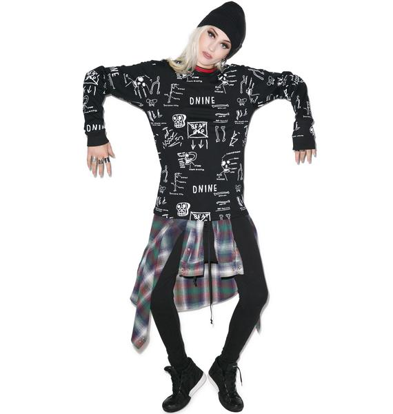 D9 Reserve Basquiat Anatomy Long Sleeve Tee