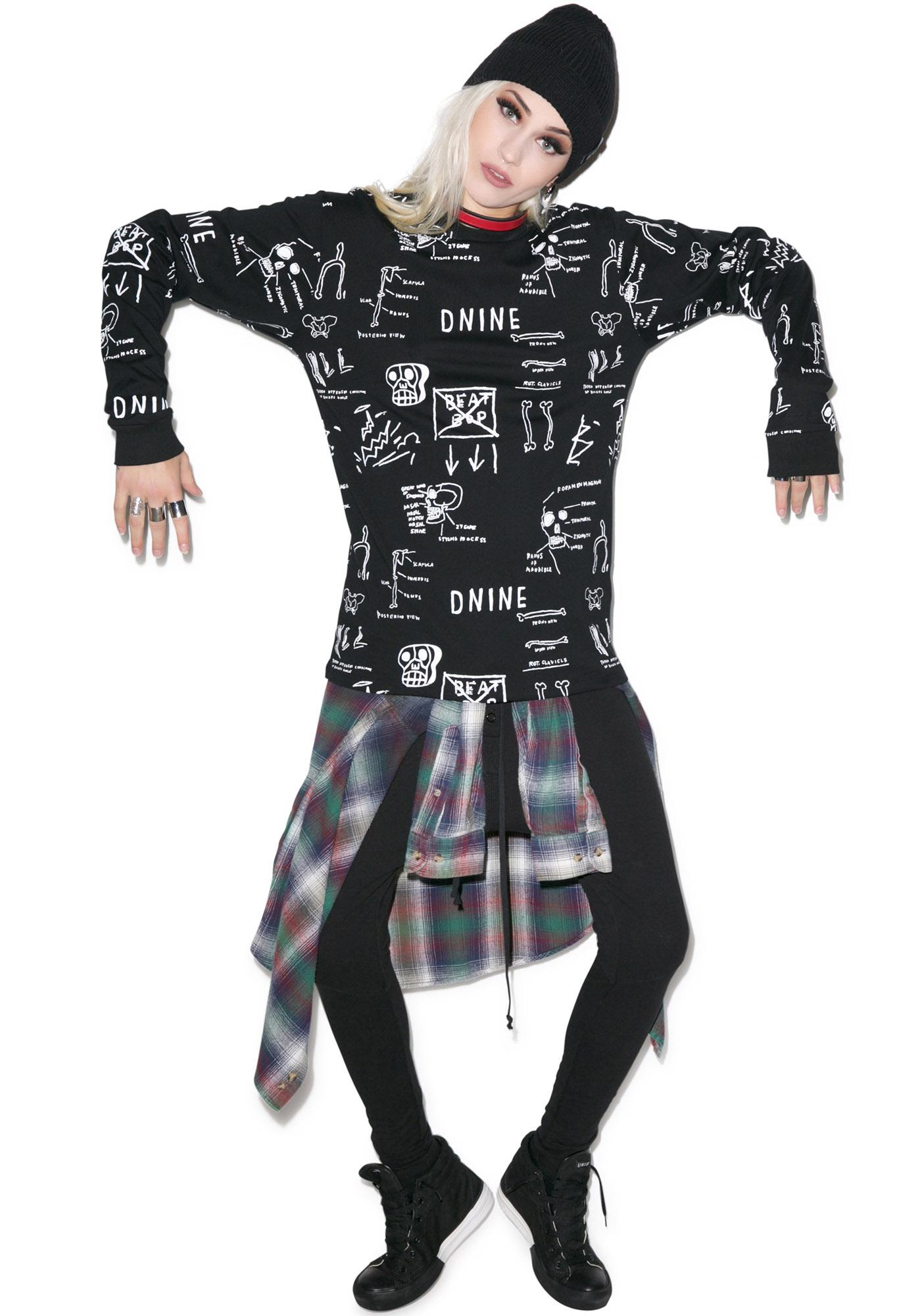 D9 Reserve Basquiat Anatomy Long Sleeve Tee