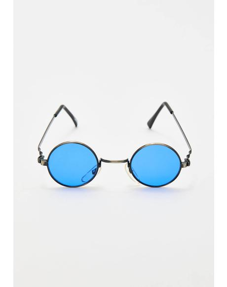 Crush On You Round Sunglasses