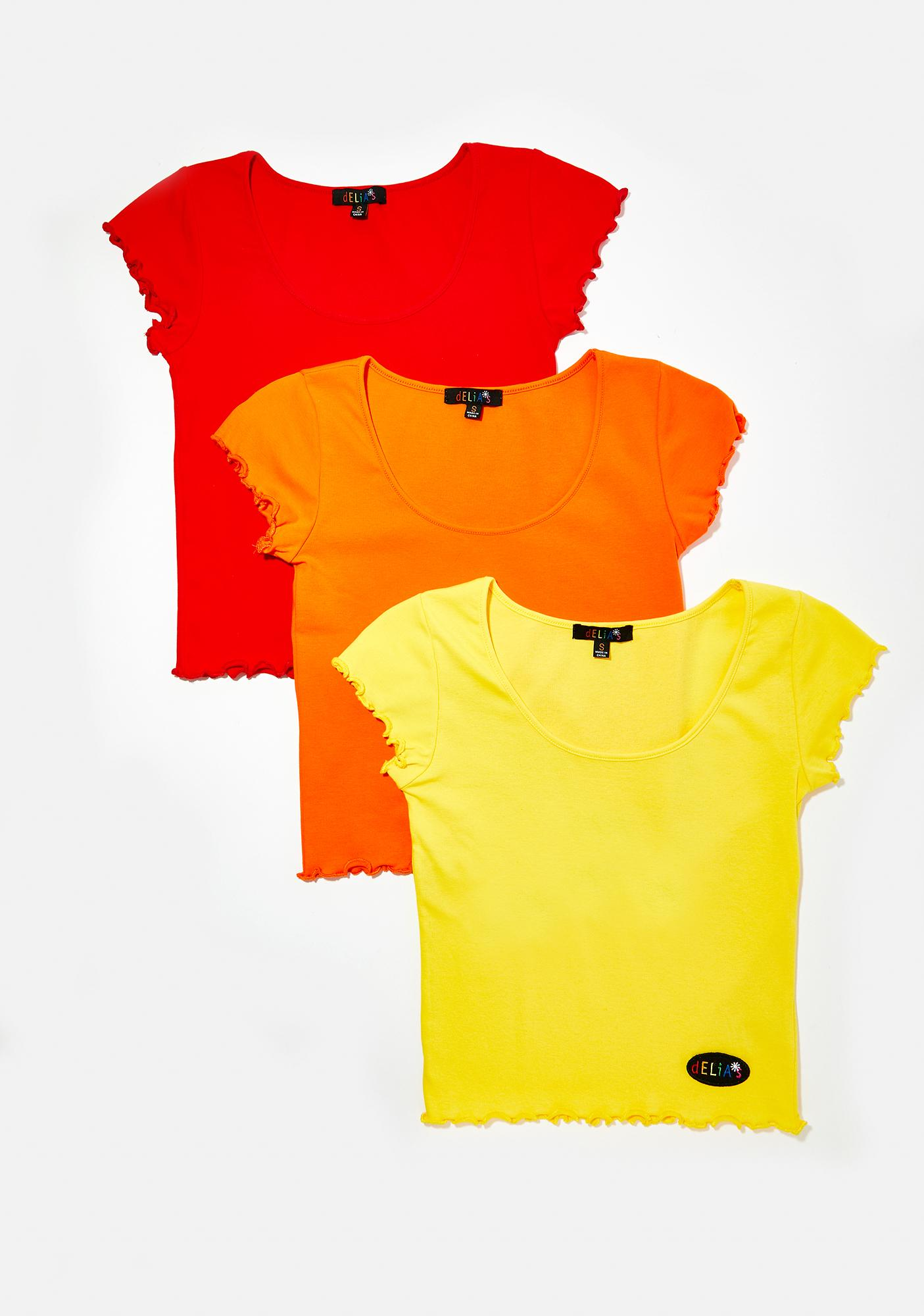 dELiA*s by Dolls Kill Primary Cutie Tees 3 Pack