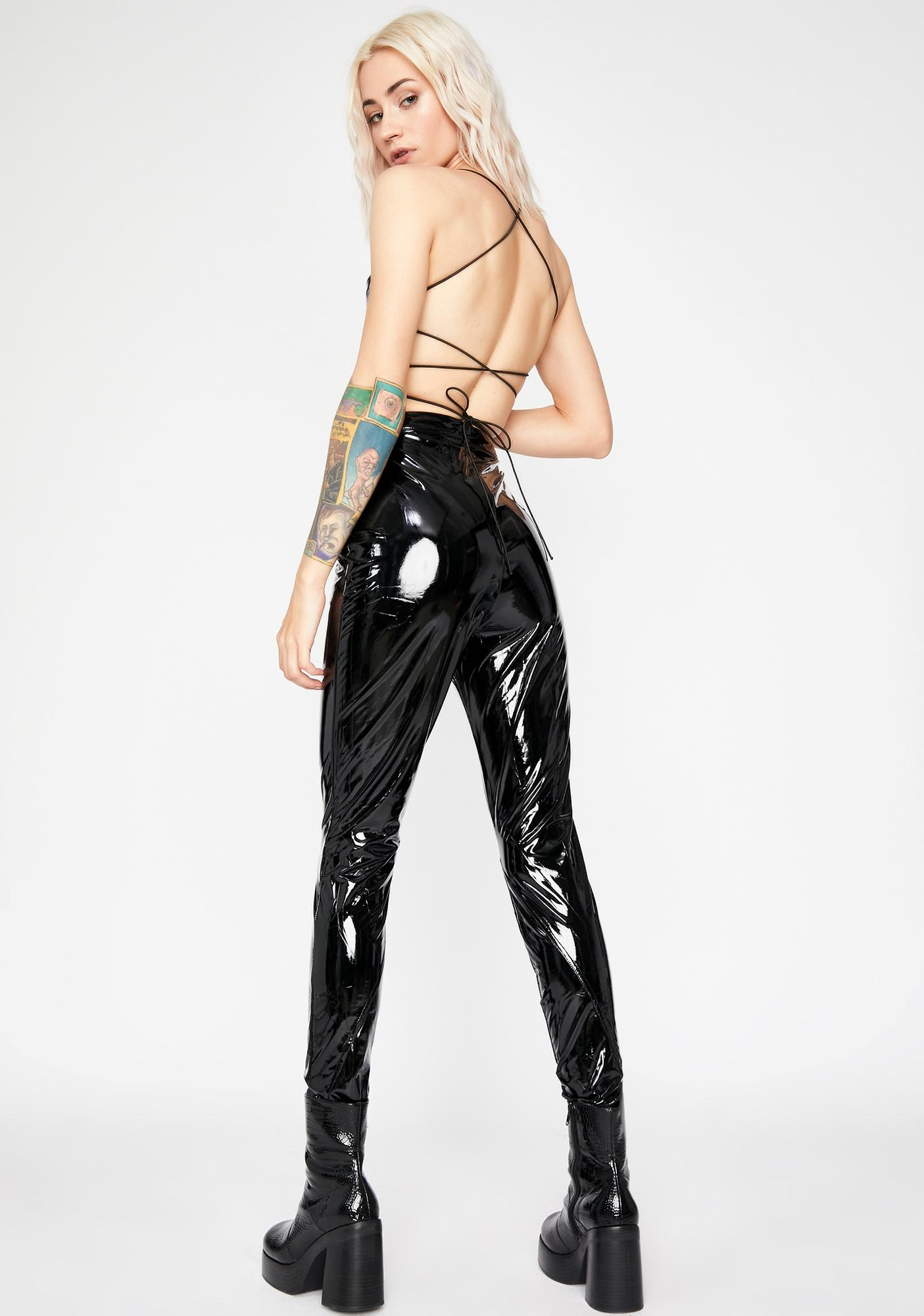 Magnetic Matrix Vinyl Pants