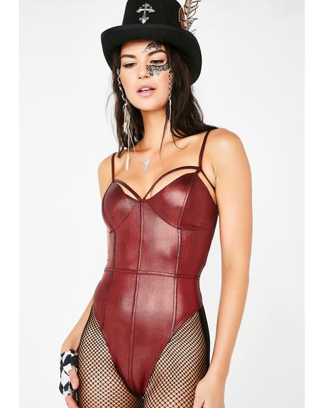Ring Leader Metallic Bodysuit