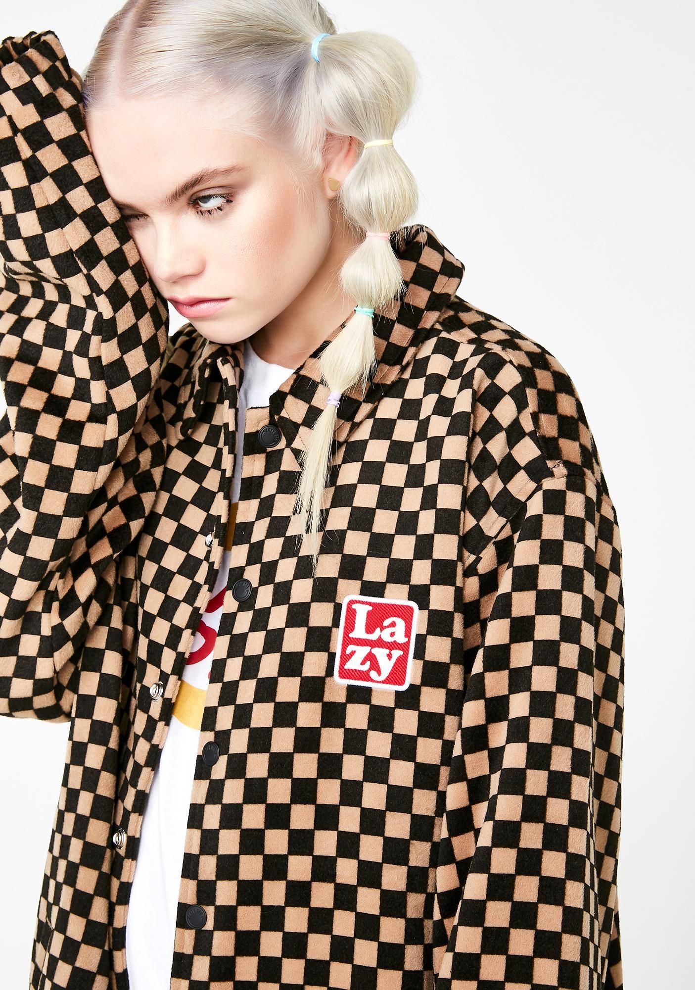 Lazy Oaf Checkerboard Coach Jacket