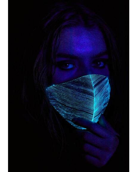 Black Light Up Mask