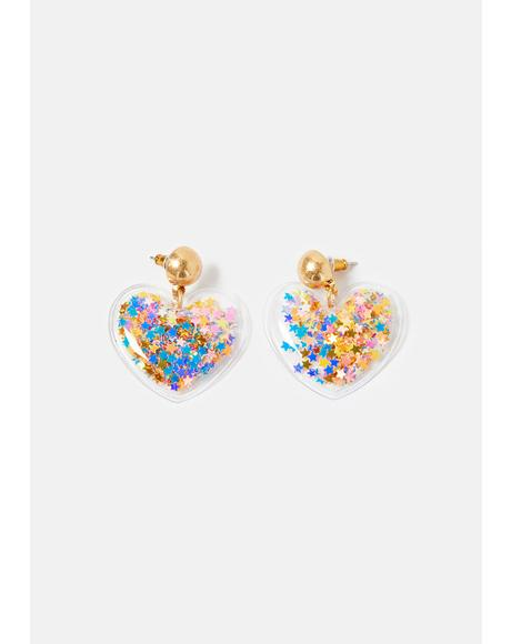 Party Hearty Confetti Drop Earrings