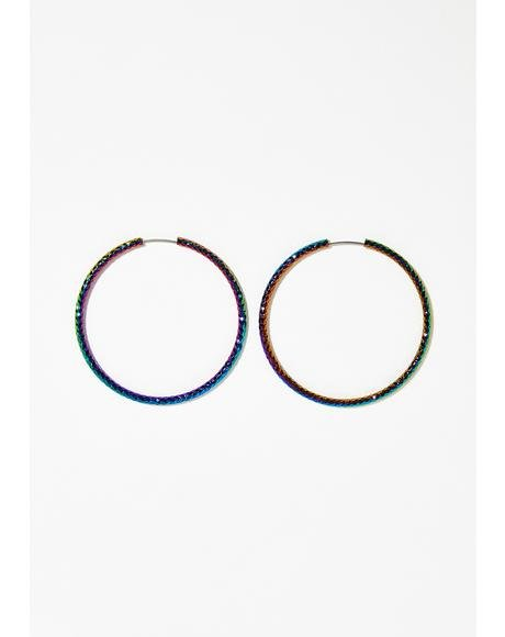 Sparkle Lyfe Rainbow Hoops