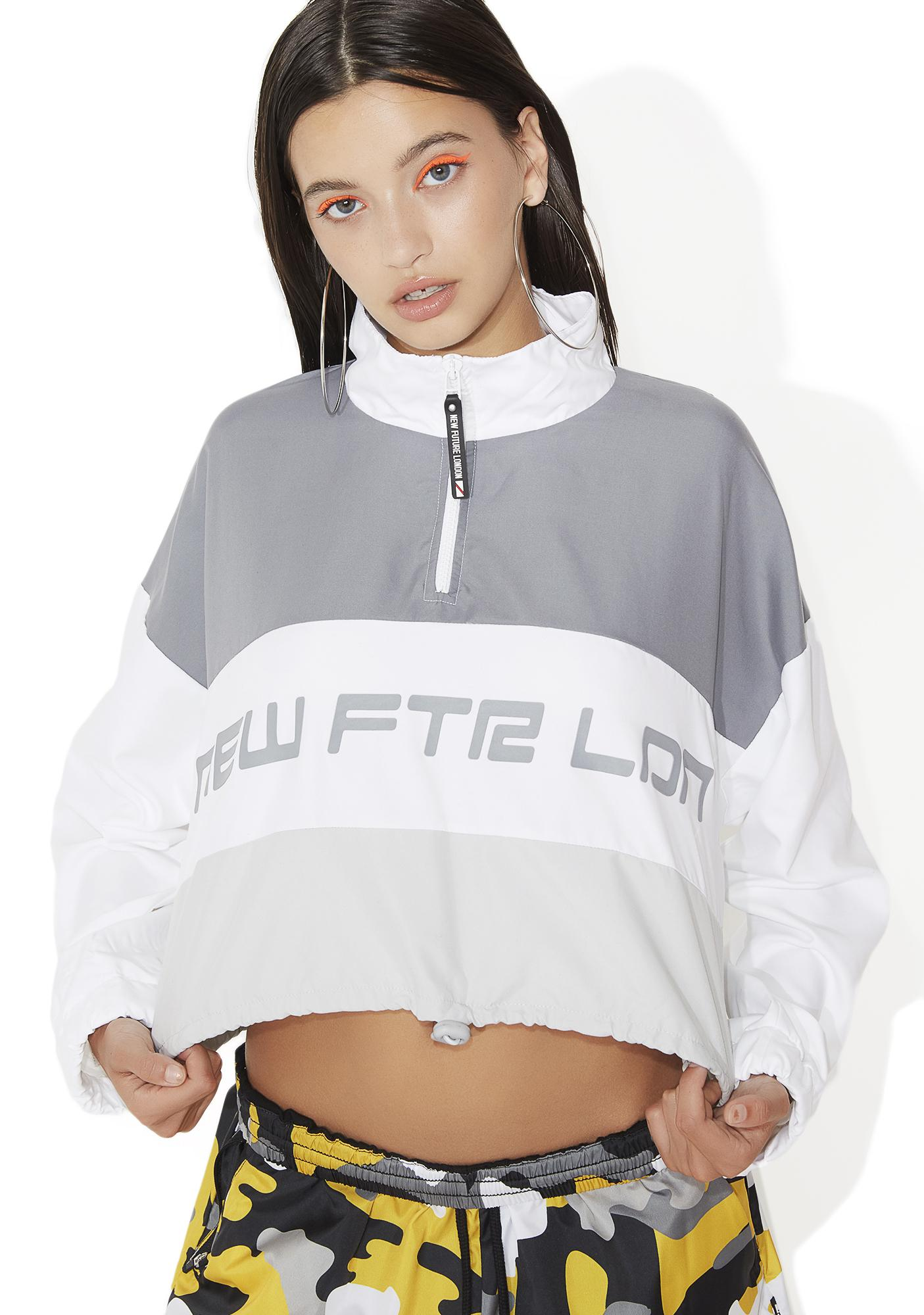 NEW FTR LDN Racer Logo Cropped Windbreaker