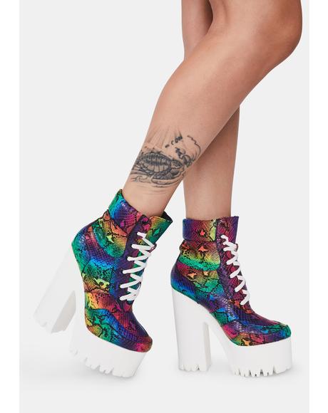 Rainbow Uileam Platform Boots