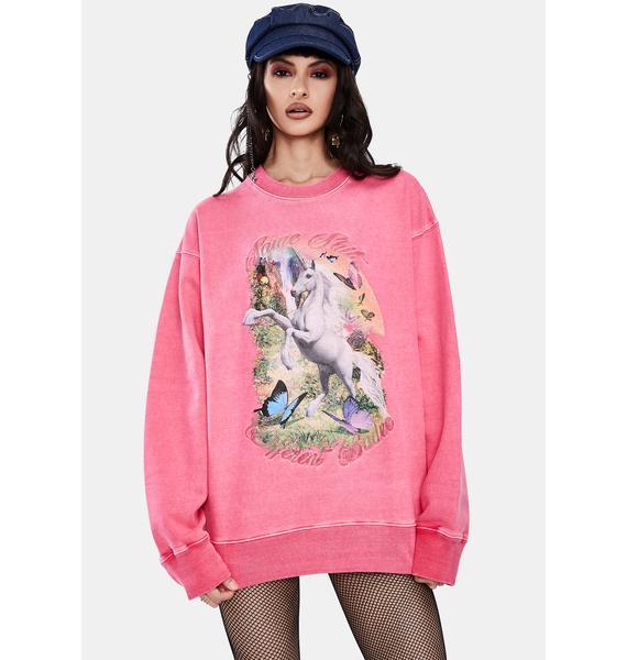 BADEE Unicorn Graphic Sweatshirt