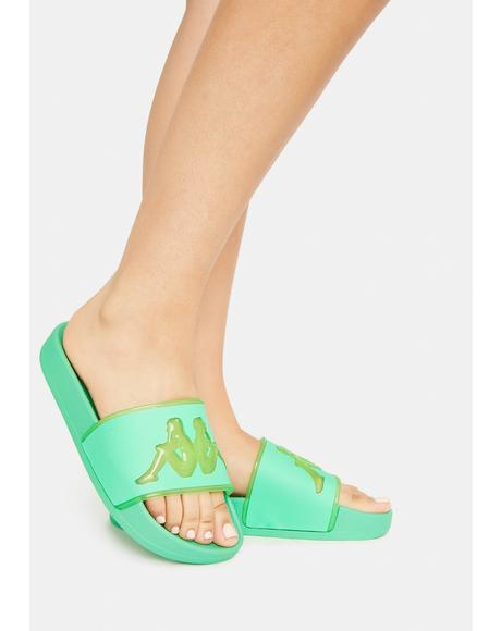 Green Ash Authentic Aqua 1 Slide Sandals