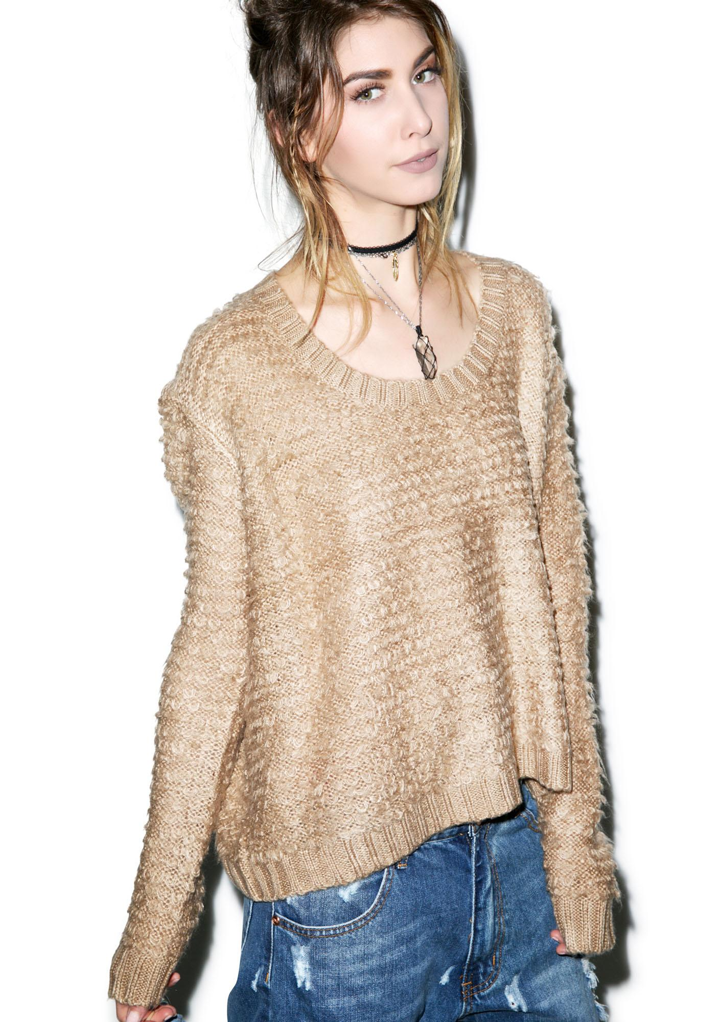 Somedays Lovin Turntable Fluffy Knit Sweater