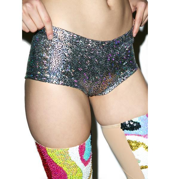 Crash The Disco Holographic Shorts
