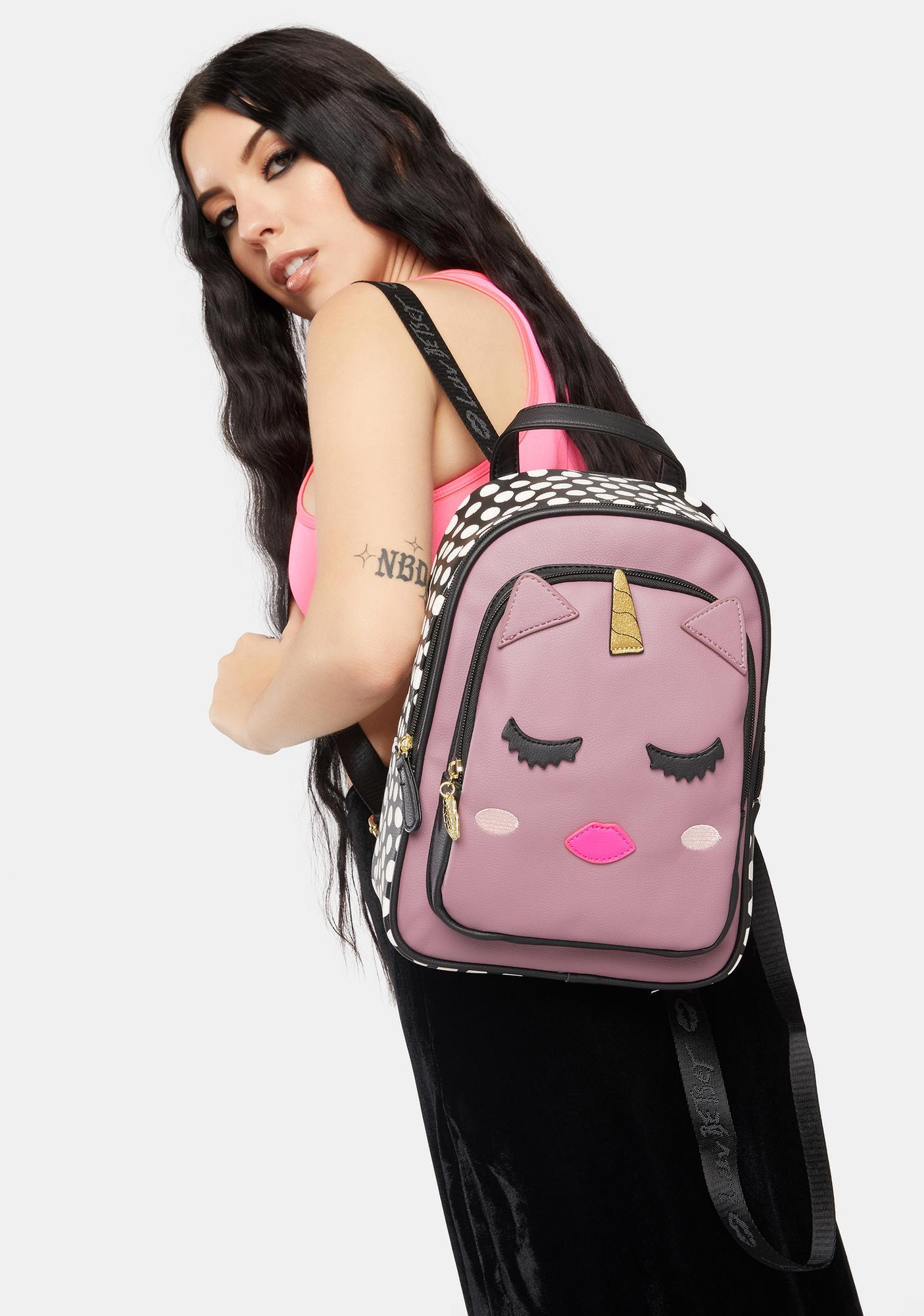 Betsey Johnson Kitsch Unicorn Mid Size Backpack