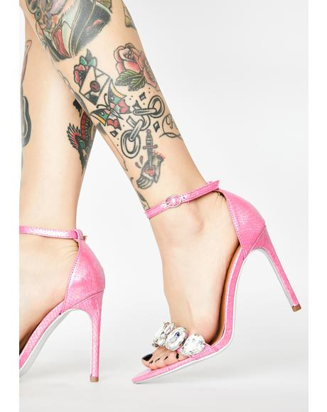 Walk It Off Peep Toe Heels