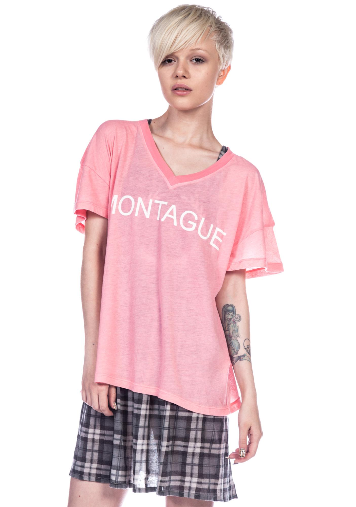 Wildfox Couture Montague Oversized V-Neck Tee